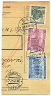 Czechoslovakia Bohemia & Moravia 1941 Parcel Card Bzí / Bsi, Scott 35, 43, 47 - Bohemia & Moravia