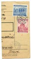 Czechoslovakia Bohemia & Moravia 1941 Parcel Card Domažlice / Taus, Scott 32 & 47 - Bohemia & Moravia