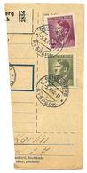 Czechoslovakia Bohemia & Moravia 1944 Parcel Card Kyšperk / Geiersberg, Scott 75 & 76 - Bohemia & Moravia