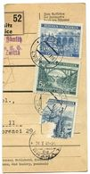 Czechoslovakia Bohemia & Moravia 1941 Parcel Card Lysice / Lissitz, Scott 34, 44, 47 - Bohemia & Moravia