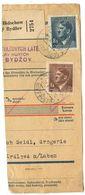 Czechoslovakia Bohemia & Moravia 1944 Parcel Card Nový Bydžov / Neubidschow - Bohemia & Moravia