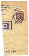 Czechoslovakia Bohemia & Moravia 1944 Parcel Card Pocinovice / Putzeried, Scott 78 - Bohemia & Moravia