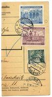 Czechoslovakia Bohemia & Moravia 1941 Parcel Card Počátky / Potschatek, Scott 26, 45, 47 - Bohemia & Moravia