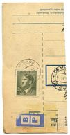 Czechoslovakia Bohemia & Moravia 1944 Parcel Card Rokycany / Rokycan, Scott 75 - Bohemia & Moravia