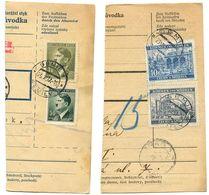 Czechoslovakia Bohemia & Moravia 1941/1944 2 Parcel Cards Semily / Semil - Bohemia & Moravia