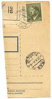 Czechoslovakia Bohemia & Moravia 1944 Parcel Card Slaný / Schlan, Scott 75 - Covers & Documents