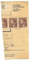 Czechoslovakia Bohemia & Moravia 1944 Parcel Card Smidary / Smidar, Scott 68 - Covers & Documents