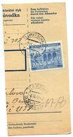 Czechoslovakia Bohemia & Moravia 1941 Parcel Card Tlumacov / Tlumatschau, Scott 47 - Covers & Documents
