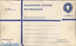 Jersey 1973 Registered Letter 23p Blue, (Unused Postal Stationary), Stamps - Jersey