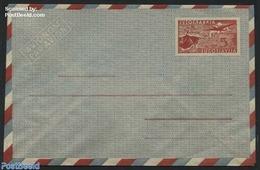 Yugoslavia 1951 Airmail Envelope 5D, Offset, (Unused Postal Stationary), Stamps - Ganzsachen