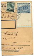 Czechoslovakia Bohemia & Moravia 1942 Parcel Card Zahrádka U Ledče, Scott 26, 47 - Covers & Documents