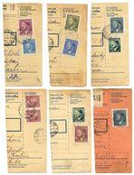 Czechoslovakia Bohemia & Moravia 1942/1944 11 Parcel Cards, Hitler Stamps - Bohemia & Moravia