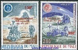 Mali 1974 Moonlanding 2v, (Mint NH), Transport - Space Exploration - Somalia (1960-...)