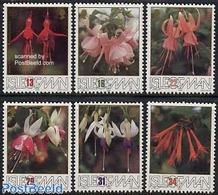 Island Of Man 1988 Fuchsia Flowers 6v, (Mint NH), Nature - Flowers & Plants - Timbres