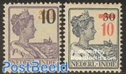 Netherlands Indies 1937 Definitives, Overprints 2v, (Unused (hinged)), Transport - Ships & Boats - Ships