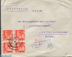 Netherlands Indies 1947 Envelope To Amsterdam With Soerabaja Mark, (Postal History), Stamps - Indes Néerlandaises