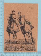 Carte Postale En Liege, Theme : Equitation, Course De Cheveaux, Horseback Riding, Postcard Carte Postale - Cartes Postales