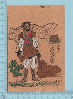 Carte Postale En Liege, Theme : Militaire, Arriere Decentré - Cartes Postales