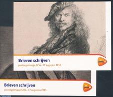 Netherlands 2015 Writing Letters, Presentation Pack 525A+B, (Mint NH), Art - Authors - Rembrandt - Vincent Van Gogh - Ha - 2013-... (Willem-Alexander)
