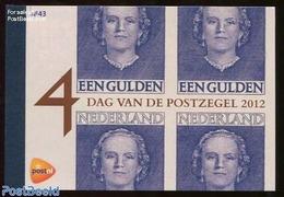 Netherlands 2012 Stamp Day Prestige Booklet, (Mint NH), Stamps - Stamp Booklets - Stamps On Stamps - Stamp Day - Stamp's Day