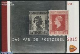 Netherlands 2015 Stamp Day Prestige Booklet, (Mint NH), Stamp Day - Stamps On Stamps - Stamps - Stamp's Day