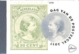 Netherlands 2017 Stamp Day, Prestige Booklet, (Mint NH), Stamp Booklets - Stamps On Stamps - Stamp Day - Stamp's Day
