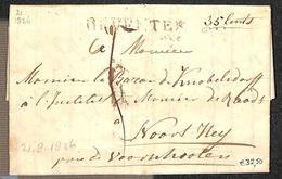 Netherlands 1826 Folding Letter From Deventer To Voorschoten, (Postal History), Stamps - Poststempels/ Marcofilie