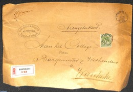 Netherlands 1908 Large Registered Letter With Kleinrond KAMPERLAND, (Postal History) - Poststempels/ Marcofilie
