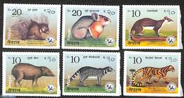 Nepal 2017 Small Mammals 6v S-a, (Mint NH), Wild Mammals - Animals (others & Mixed) - Cat Family - Nepal
