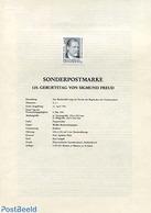 Austria 1981 SIGMUND FREUD  BLACKPRINT, (Mint NH), Health - 1981-90 Neufs