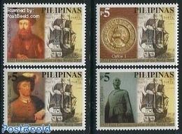 Philippines 2002 Circumnavigation 4v, (Mint NH), Transport - Ships And Boats - History - Explorers - Explorers
