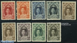 Suriname, Colony 1927 Definitives 9v, (Unused (hinged)), Nature - Trees & Forests - Rotary, Lions Club