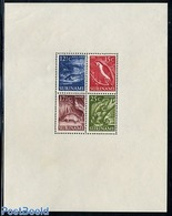 Suriname, Colony 1955 Definitives S/s, (Unused (hinged)), Nature - Animals (others & Mixed) - Reptiles - Birds - Fish - Fishes