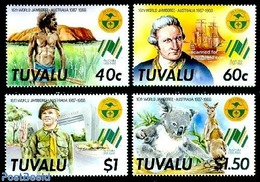 Tuvalu 1987 World Jamboree Australia 4v, (Mint NH), History - Explorers - Original Inhabitants - Nature - Animal.. - Tuvalu