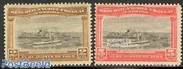 Uruguay 1909 Montevideo Harbour 2v, (Mint NH), Transport - Ships And Boats - Barcos