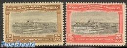 Uruguay 1909 Montevideo Harbour 2v, (Mint NH), Transport - Ships And Boats - Boten