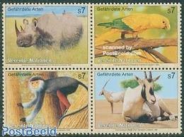United Nations, Vienna 1995 Animals 4v [+], (Mint NH), Nature - Animals (others & Mixed) - Birds - Monkeys - Parrot.. - Postzegels