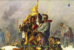 Carte Postale, Militaria, Napoleon, Uniformes De La Grande Armée, Carabiniers à Cheval , Russie 1812 - Uniformen