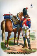 Carte Postale, Militaria, Napoleon, Uniformes De La Grande Armée, Carabiniers à Cheval 1810 - Uniformen