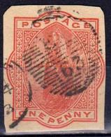 GRANDE-BRETAGNE - Great Britain - Reine Victoria Entier Postal - 1 P. One Penny Rose Oblitéré - Entiers Postaux