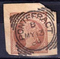 GRANDE-BRETAGNE - Great Britain - Reine Victoria Entier Postal - 1/2 P. Half Penny Brun Oblitéré - Cachet PONTEFRACT - Luftpost & Aerogramme