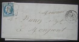 Libourne 1859 E. Labatut Ainé  Denrées Coloniales, Manufacture De Chandelles Pour Montpont Sur L'isle - 1849-1876: Période Classique