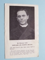EDWARD J.M. POPPE 1890 - 1924 ( RELIKWIE - RELIQUIARIO - RELIC - RELIQUARY - RELIQUAIRE ) Stof / Gebed ! - Religion & Esotérisme