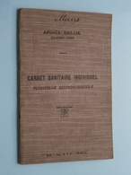 CARNET SANITAIRE INDIVIDUEL Armée Belge ( MOEYS - Craenhem 1903 ) - Anno 1923 ( Zie Foto's ) ! - Documents