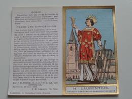 Litanie Tot Den H. LAURENTIUS Patroon Der Kerk En Parochie Van HOVE ( G. Hutsebaut Deurne / Details - Zie Foto's ) ! - Religion & Esotérisme