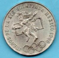 (r65)  MEXIQUE  25 Pesos 1968  Silver KM#479.1 - Mexico
