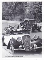 CP Moderne VOIR DOS Nostalgie 1935 Superbe Cabriolet Roadster Traction Avant Citroën 11 CV Décapotable 105 Km/h - Non Classificati