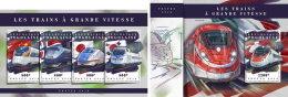 TOGO 2018 MNH** Speed Trains Schnellzüge Trains De Vitesse M/S+S/S - OFFICIAL ISSUE - DH1808 - Eisenbahnen