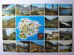 ANDORRE - Carte Et Vues - 1973 - Andorra