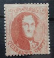 BELGIE  1863  Nr. 16 B    Tand  14 1/2   Met Keurmerk / Boven Links Korte Tand    Spoor Van Scharnier  CW  700,00 - 1863-1864 Médaillons (13/16)